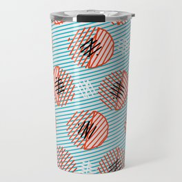 Circle Bubble Line print Travel Mug