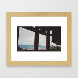 Old looking over new... Framed Art Print