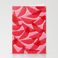 georgiana paraschiv Stationery Cards featuring Watermelon by Georgiana Paraschiv