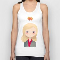leslie knope Tank Tops featuring Vote Knope by Nan Lawson