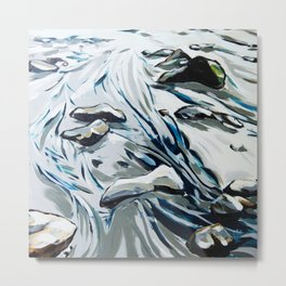 Low Tide Cool Metal Print