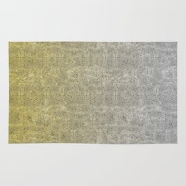 Silver and Gold Glitter Gradient Rug