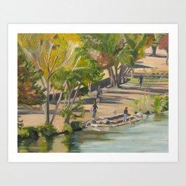 Town Lake in Austin, Texas Art Print