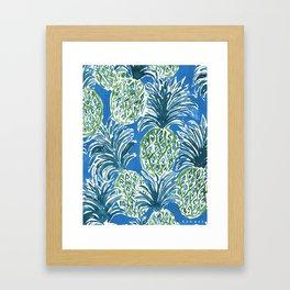 LAPIS PINEAPPLE O'CLOCK Tropical Print Framed Art Print
