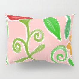 Flowery Painting Pillow Sham