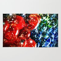 sparkles Area & Throw Rugs featuring Christmas Sparkles by Nicklas Gustafsson