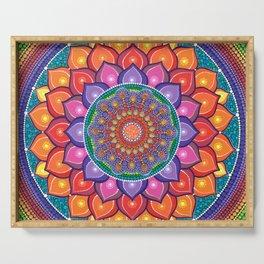 Lotus Rainbow Mandala Serving Tray