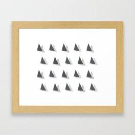 black and grey Framed Art Print