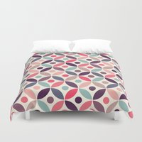 batik Duvet Covers featuring Batik Kawung by Mamoizelle