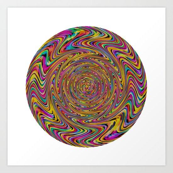 Rainbow Spin Art Print