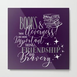Books and Cleverness Metal Print