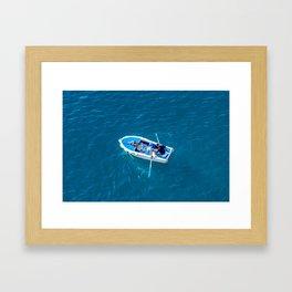 Rower in the Adriatic Framed Art Print