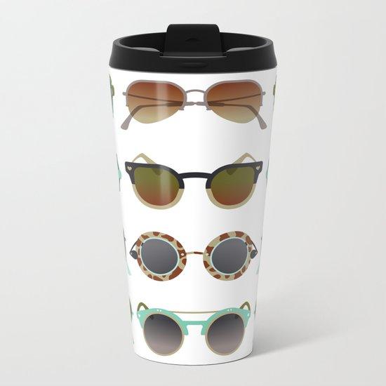 Sunglasses Collection – Mint & Tan Palette Metal Travel Mug