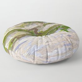 205 - abstract plant vine growing on wall Floor Pillow
