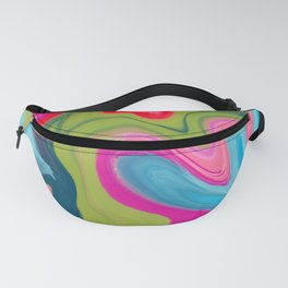 Vintage Bloom - Digital Paint Push Fanny Pack