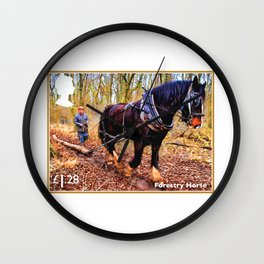 Forestry Horse Wall Clock