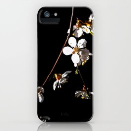 Sakura flowers on black 04 iPhone Case