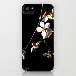 Sakura flowers on black 04 iPhone Case