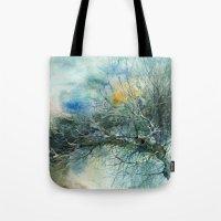 lake Tote Bags featuring Lake by Iris V.