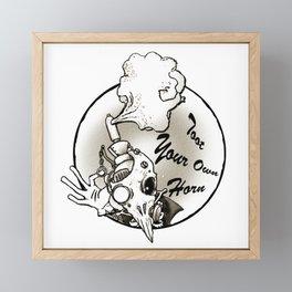 Toot Your Own Horn Framed Mini Art Print