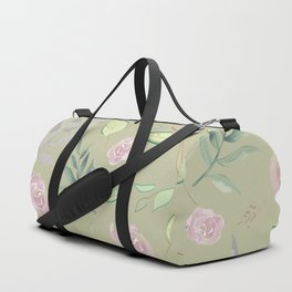Simple and stylized flowers 6 Duffle Bag