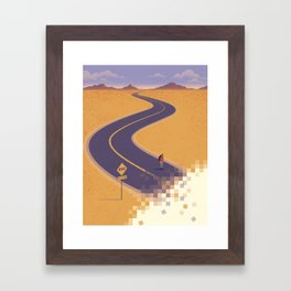 No path found Framed Art Print