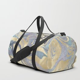 Liquid Gold Mermaid Sea Marble Duffle Bag