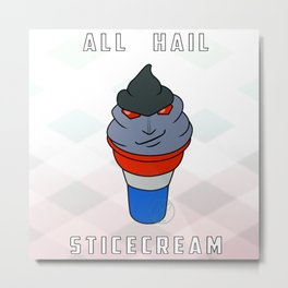 All Hail Sticecream Transformers Metal Print