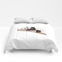 Watercolor Panda Comforters