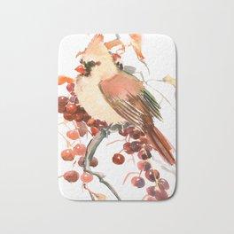 Cardinal and Berries Bath Mat