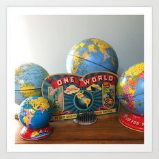 One World Art Print