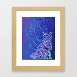 Fox Mandala Framed Art Print