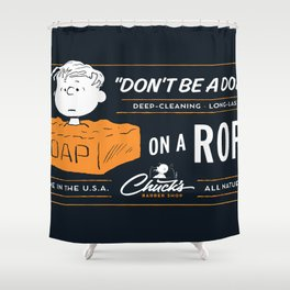 Snoopy just chillin  Shower Curtain