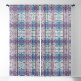 Glass flowers Sheer Curtain