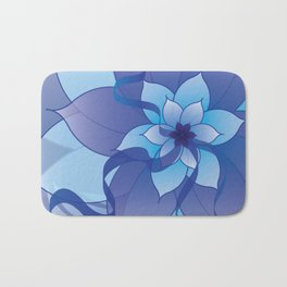 The Lady in Blue Bath Mat
