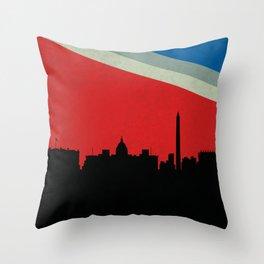 Washington Skyline Throw Pillow