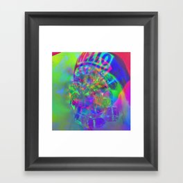 Crystal Face Framed Art Print