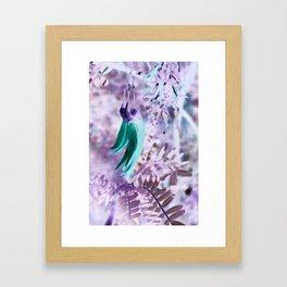 Frosted Kaka Flowers Framed Art Print