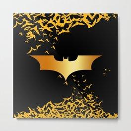 Golden Bat Heroes Metal Print