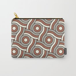 Circle Swirl Pattern Ever Classic Gray 32-24 Red River 4-21 and Dover White 33-6 Carry-All Pouch