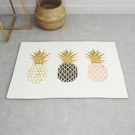 fun pineapple design gold Rug