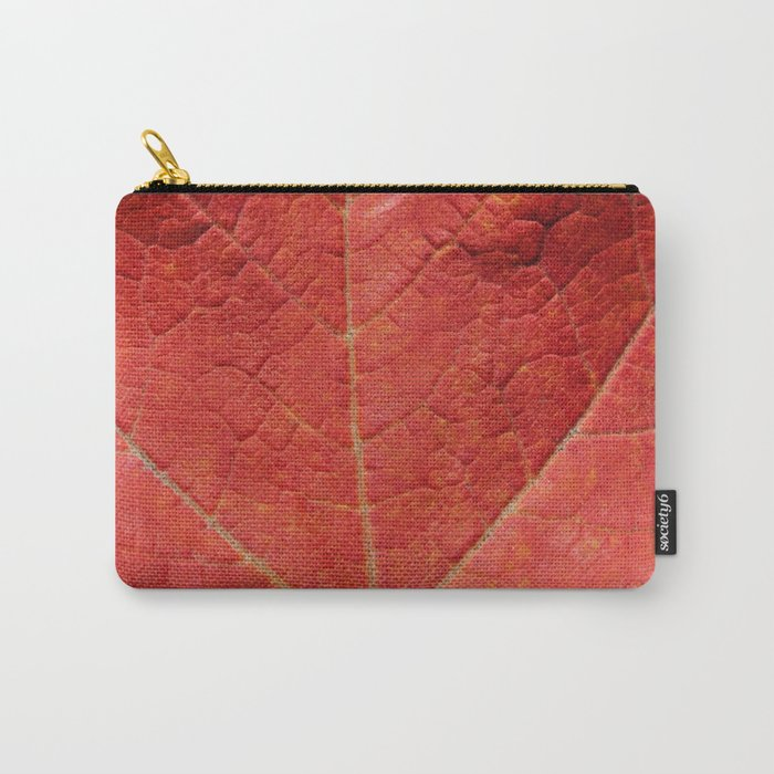 Macro Leaf Photography Print Carry-All Pouch