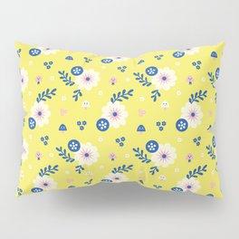 Spring Flowers Pattern Design Pillow Sham