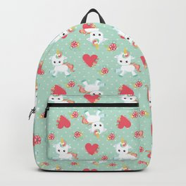 Baby Unicorn with Hearts Backpack