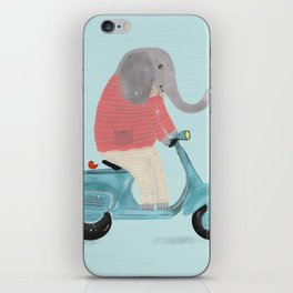 elephant scooter iPhone Skin
