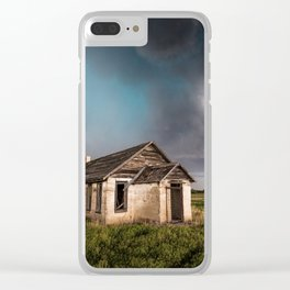 Pioneer - Abandoned Settlement Under Storm On Colorado Plains Clear iPhone Case