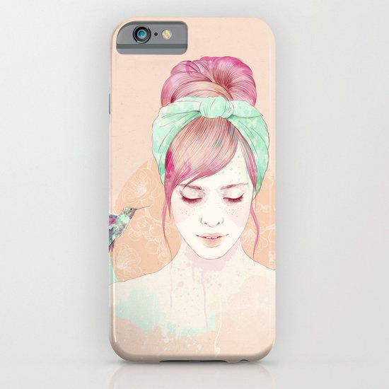 Pink hair lady iPhone & iPod Case