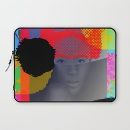 Woman Sited With Hat and Flowers Laptop Sleeve
