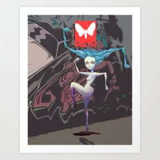 Moth Cs Art Print
