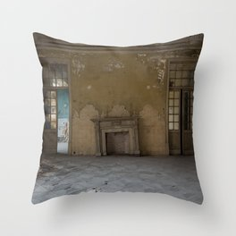 The crooked fireplace Throw Pillow